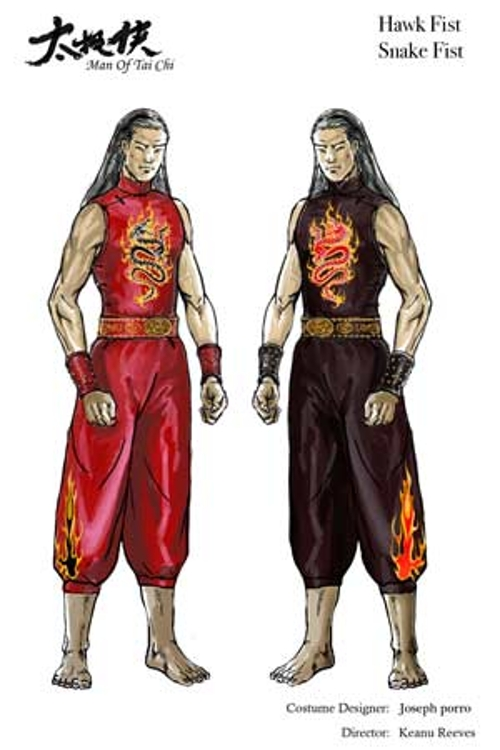 Custom Made Kung Fu Costume (Hawk Fist) by Joseph A. Porro (Costume Designer) in Man of Tai Chi