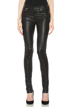 5 Pocket Skinny Leather Pants by BLK DNM in Entourage