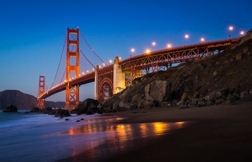 Golden Gate Bridge San Francisco, California in Steve Jobs