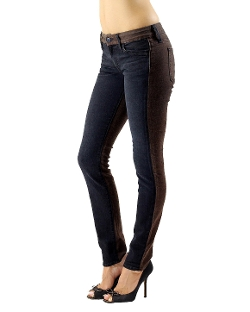 Color Block Skinny Jeans by Koral Los Angeles in Barely Lethal