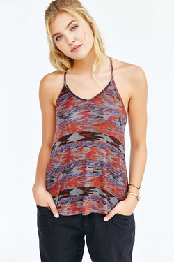 Silence + Noise Printed Lina Racerback Tank Top by Urban Outfitters in The Vampire Diaries