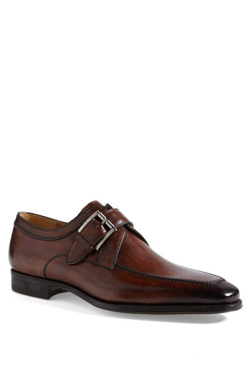 'Mauricio' Monk Strap Slip-On Shoes by Magnanni in Self/Less