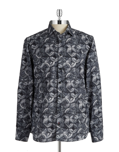 Patterned Button-Front Shirt by Pure  in Forgetting Sarah Marshall
