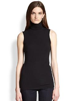 Wendel Ribbed Sleeveless Turtleneck by Theory in Ride Along