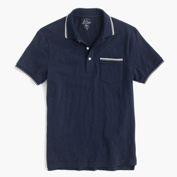 Textured Cotton Tipped Polo Shirt by J.Crew in Modern Family