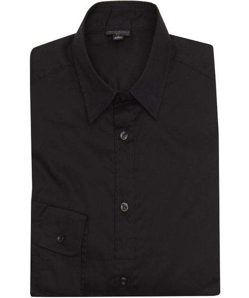 Black Cotton Point Collar Dress Shirt by Just Cavalli in The Walk