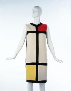 Mondrian Dress (Red / Yellow) by Yves Saint Laurent in Yves Saint Laurent