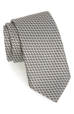 Geometric Silk Tie by Ermenegildo Zegna in Wedding Crashers