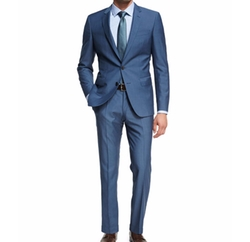 Solid Wool Two-Piece Suit by Boss in The Hitman's Bodyguard