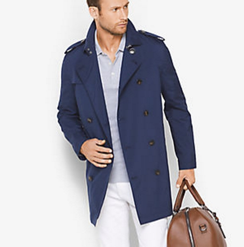 Cotton-Blend Trench Coat by Michael Kors Mens in Fantastic Beasts and Where to Find Them