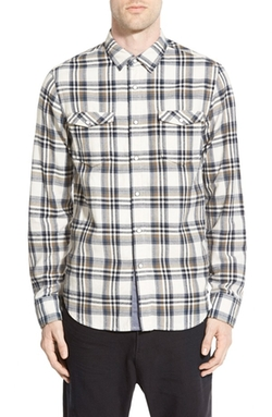 Plaid Twill Woven Shirt by Howe in Nashville