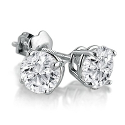 Round Diamond Stud Earrings by Amanda Rose Collection in Sex and the City