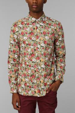 Rose Button-Down Shirt by Urban Outfitters in Get On Up