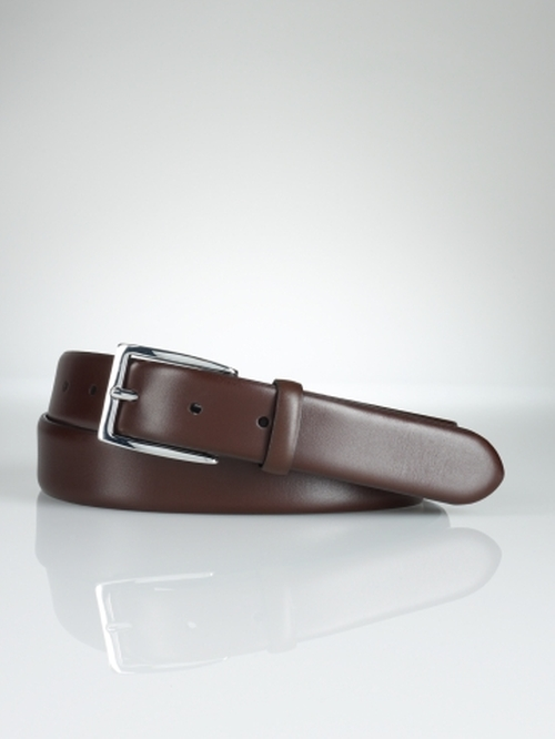 Douglas Calfskin Buckle Belt by Polo Ralph Lauren in Our Brand Is Crisis