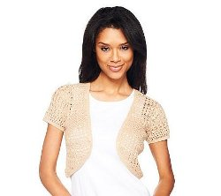 Hand Crochet Short Sleeve Shrug by Liz Claiborne New York in The Best of Me