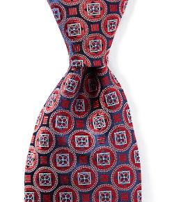 Diamond Medallion Tie by Cremieux in Anchorman 2: The Legend Continues