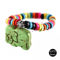 Elephant Bead Bracelet by Kate Lux in No Escape