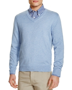 Supima Cotton V-Neck Sweater by Brooks Brothers in Silicon Valley
