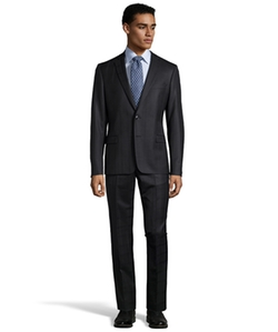 Plaid Patterned Two-Piece Wool Suit by Versace in The Night Manager