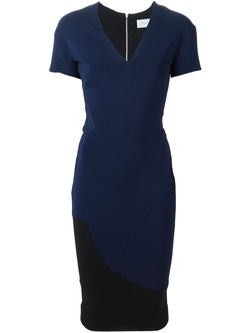 Fitted V-Neck Dress by Victoria Beckham in Jessica Jones