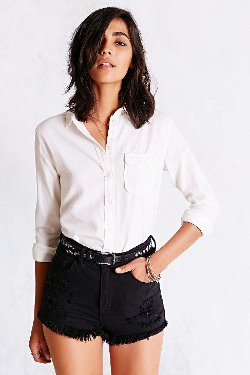 Classic Oxford Button Down Shirt by BDG in That Awkward Moment
