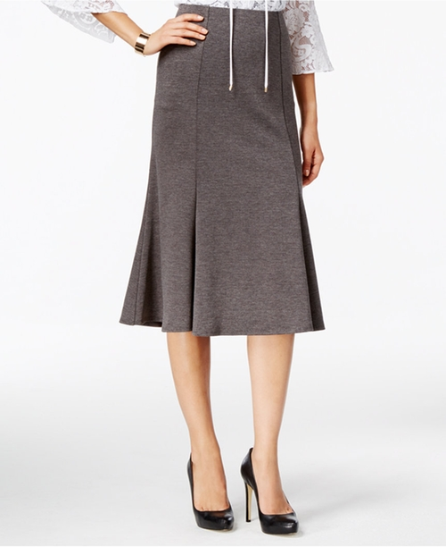 Ponte A-Line Skirt by NY Collection in Suits