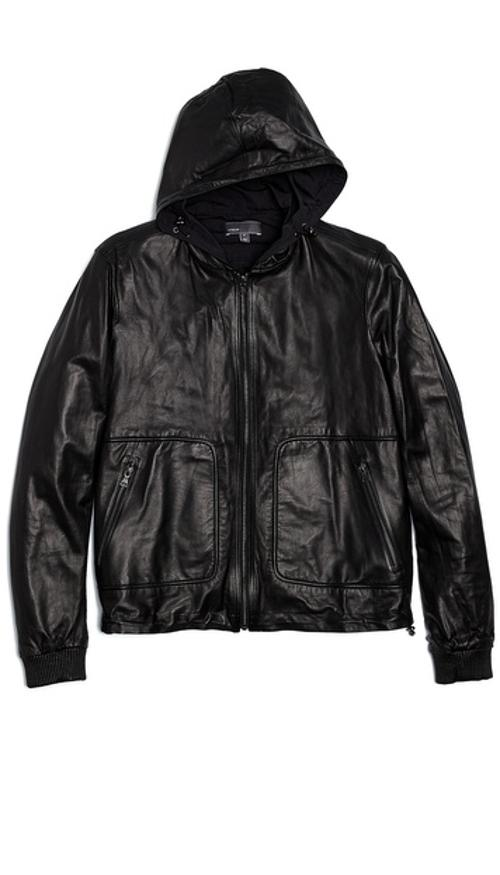 Reversible Leather / Tricot Jacket by Vince in Ride Along