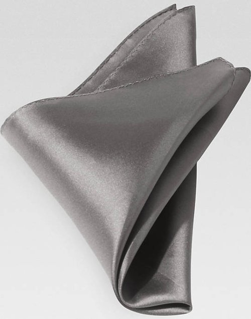Gray Silk Pocket Square by Men's Wearhouse in Vice