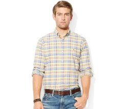Classic-Fit Plaid Oxford Shirt by Polo Ralph Lauren in Blackhat