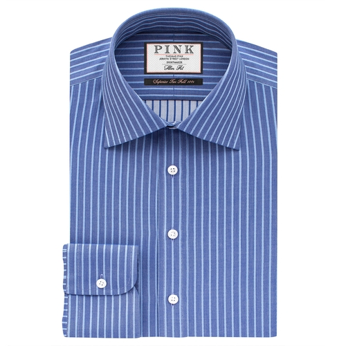Gibson Stripe Slim Fit Shirt by Thomas Pink in We Are Your Friends