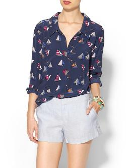 Long Sleeve Arden Blouse by Equipment in The Disappearance of Eleanor Rigby