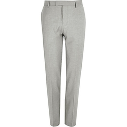 Slim Suit Pants by River Island in The Night Manager