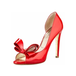 Couture Bow d'Orsay Pumps by Valentino in Riverdale