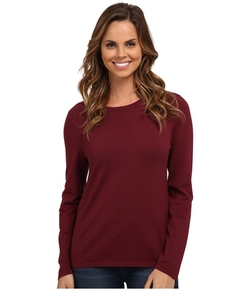 Washable Silk-Blend Jewel Neck Pullover by Pendleton in Supergirl