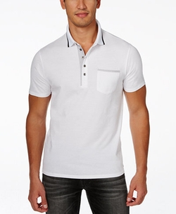 Men's Stream Pocket Polo by Guess in Flaked