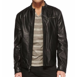 Tumbled Leather Moto Jacket by John Varvatos Star USA in The Fate of the Furious