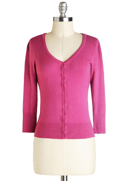 Cardigan in Magenta by Charter School in Wish I Was Here