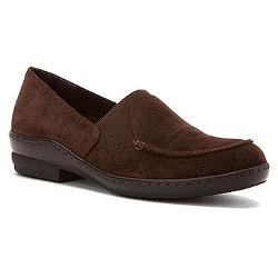 Brown Suede Shoes by David Tate Stretchy in The Visit