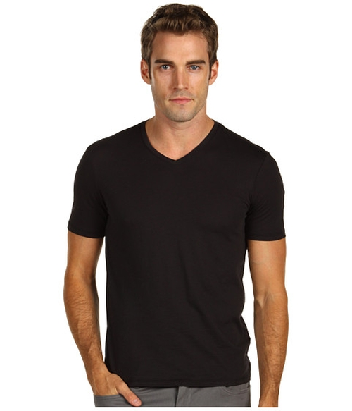 Solid Jersey V-Neck Tee by Vince in American Pie
