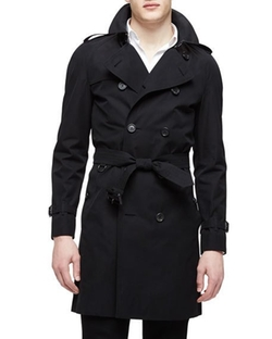The Wiltshire Long Heritage Trench Coat by Burberry London in Guilt