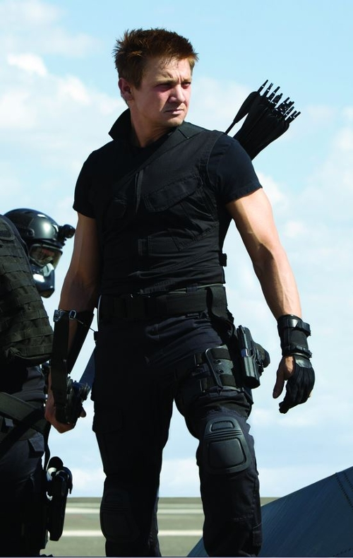 Custom Made 'Hawkeye' Gloves by Alexandra Byrne (Costume Designer) in Marvel's The Avengers