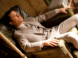 Custom Made Wool Suit by Jeffrey Kurland (Costume Designer) and Dennis Kim (Tailor) in Inception