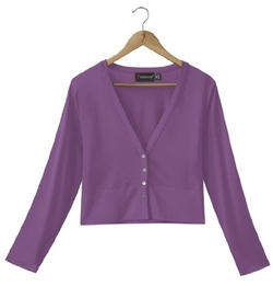 Merino Cotton V Neck Cardigan by Silkbody in Bridesmaids