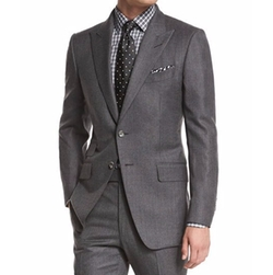 O'connor Base Mini-Textured Suit by Tom Ford in Suits