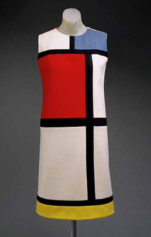 Mondrian Dress (Blue / Red / Yellow) by Yves Saint Laurent in Yves Saint Laurent