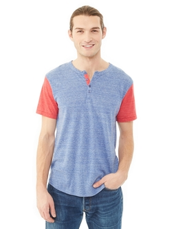 Eco-Jersey Henley Shirt by Alternative Apparel in Modern Family