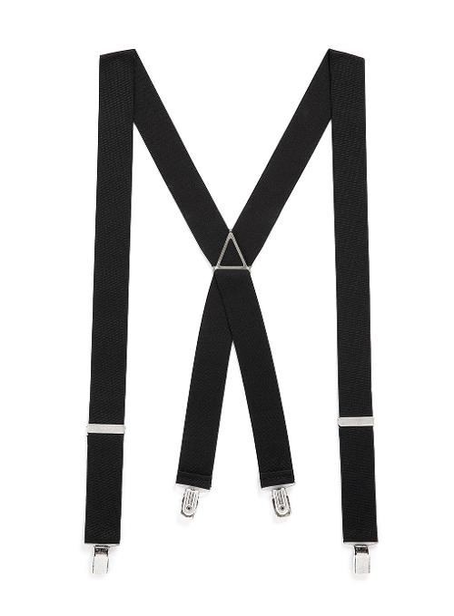 Black Vintage Plain Suspenders by Topman in Addicted