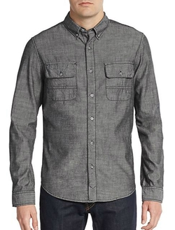 Double Spade Cotton Sportshirt by Madison Supply in The Flash