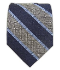 Linen Bold Stripe Tie by The Tie Bar in John Wick