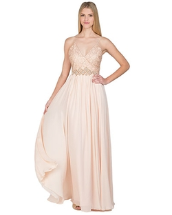 Web Lace Silk Runway Evening Gown by Badgley Mischka in The Bachelorette